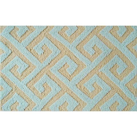 Greek Key Blue Indoor Outdoor Doormat