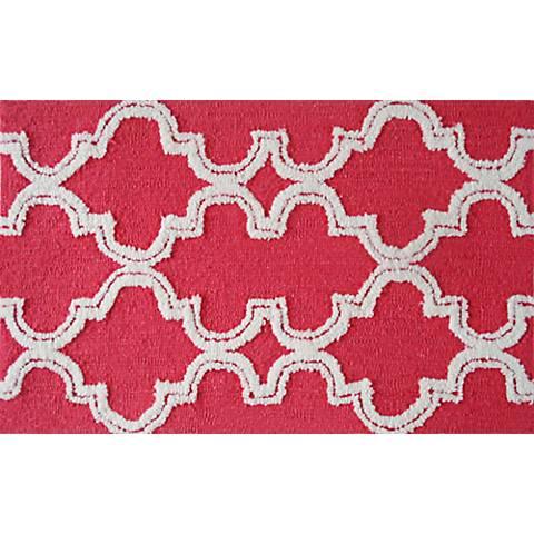 Jafar Raspberry Indoor/Outdoor Doormat