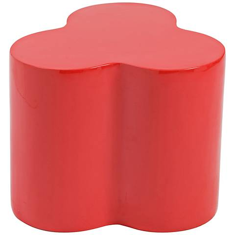 Sloan Small High-Gloss Red Stool