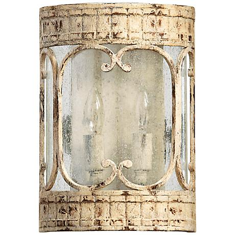 """Quorum Florence 11 1/4"""" High Persian White Sconce"""