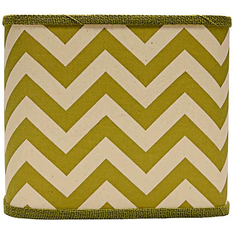 Green Chevron Square Lamp Shade 11x11x9.5 (Spider)