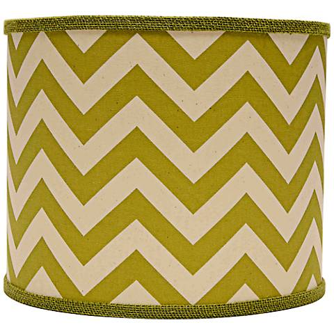 Village Green Chevron Drum Lamp Shade 12x12x10 (Spider)