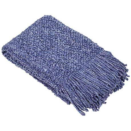Camelot Collection Sapphire Blue Decorative Throw