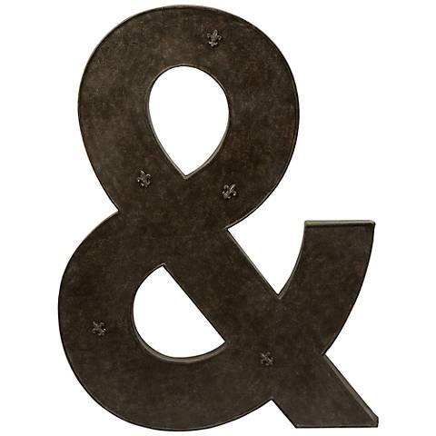 "Ampersand 39 1/4"" High Metal Magnet Board"