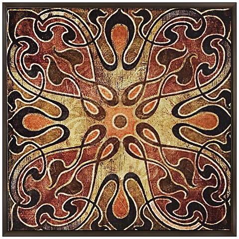 Set of 9 Tuscan Tile Pattern Wall Art