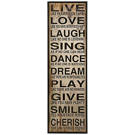 "Live Love Laugh 60 3/4"" Wall Art"