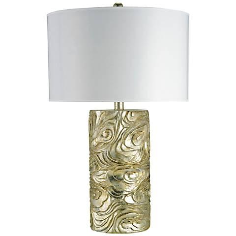 Currey and Company Grenier Silver Granello Table Lamp