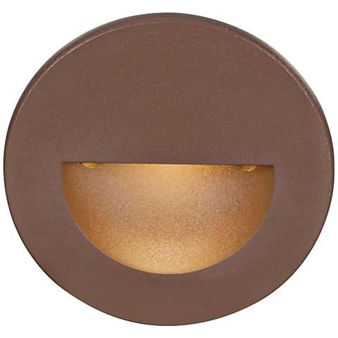 WAC LEDme® Bronze Round Step Light