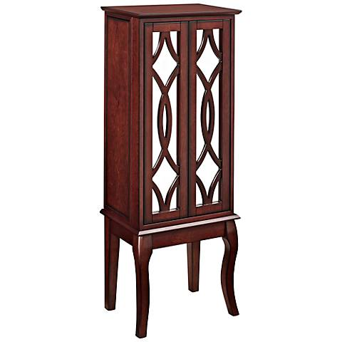 Java and Mirror Jewelry Armoire