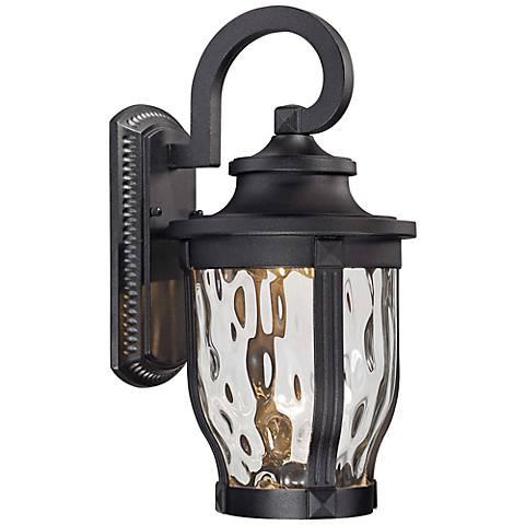 """Merrimack 16 1/4"""" High Black LED Outdoor Wall Light"""