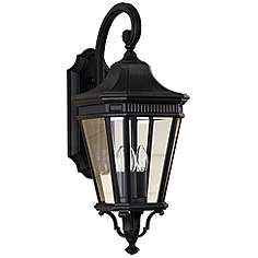 Feiss Cotswold Lane 23 3 4 H Black Outdoor Wall Light
