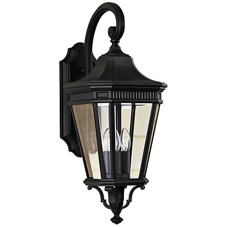 """Feiss Cotswold Lane 23 3/4""""H Black Outdoor Wall Light"""