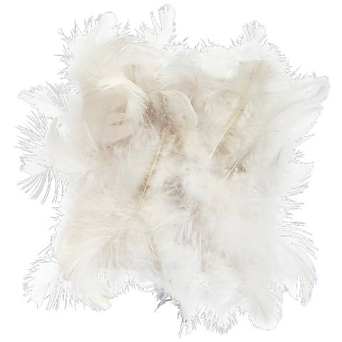 White Feathered Drum Lamp Shade 4x4x5 (Clip-On)