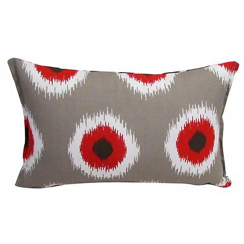 Busting Dots Rectangular Outdoor Throw Pillow