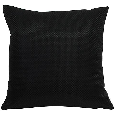 "Basketweave Black 18"" Square Throw Pillow"