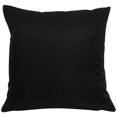 "Basketweave Black 18"" Square Throw Pillow"