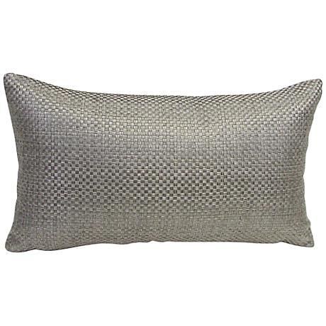 Basketweave Pebble Rectangular Down Throw Pillow