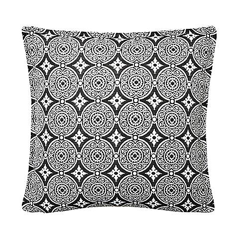 "Steel Circles 17"" Square Throw Indoor-Outdoor Pillow"