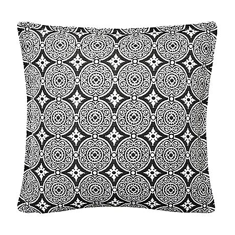 """Steel Circles 17"""" Square Outdoor Throw Pillow"""