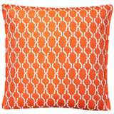 """Tangerine Chain 17"""" Square Outdoor Throw Pillow"""