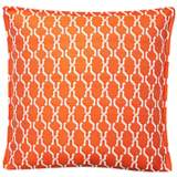 "Tangerine Chain 17"" Square Throw Indoor-Outdoor Pillow"