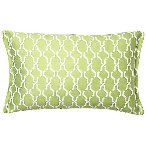 Spring Chain Rectangular Outdoor Throw Pillow