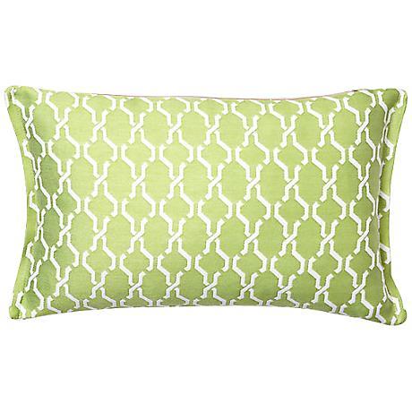 Spring Chain Rectangular Outdoor Throw Pillow