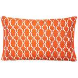 Tangerine Chain Rectangular Outdoor Throw Pillow