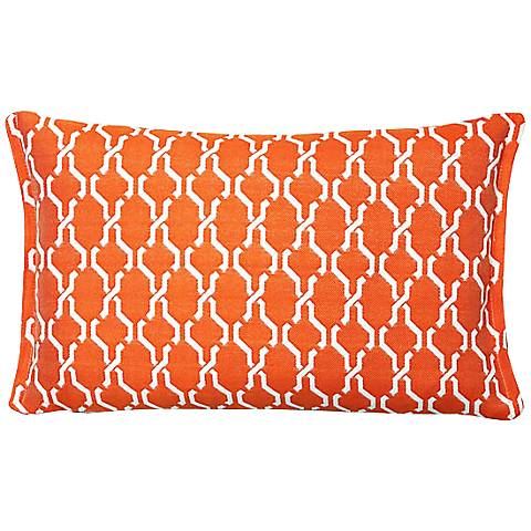 Tangerine Chain Rectangular Throw Indoor-Outdoor Pillow