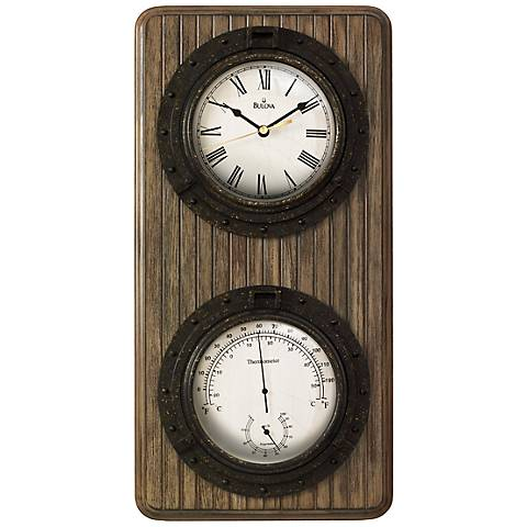 "Bulova Monterey 19"" High Rectangular Wall Clock"