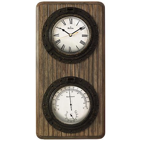 "Bulova Monterey 19"" High Rectangular Wall Clock"