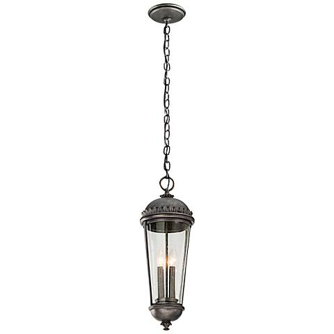 "Ambassador Collection 24"" High Pewter Outdoor Hanging Light"