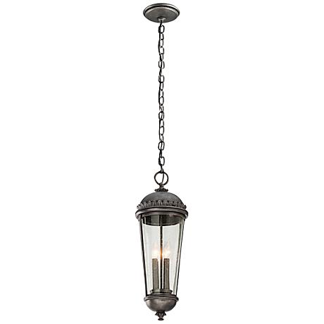 """Ambassador Collection 24"""" High Pewter Outdoor Hanging Light"""