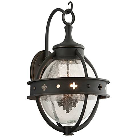 "Mendocino Collection 23 3/4"" High Black Outdoor Wall Light"