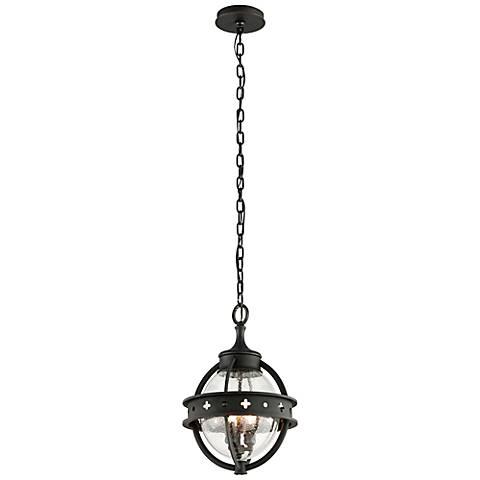 """Mendocino 18 1/4"""" High Black Outdoor Hanging Light"""