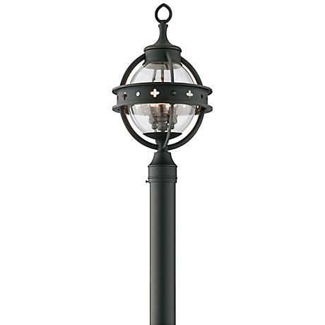 """Mendocino Collection 21"""" High Black Outdoor Post Light"""