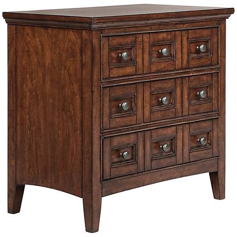 Harrison Deep Cherry Night Stand Table