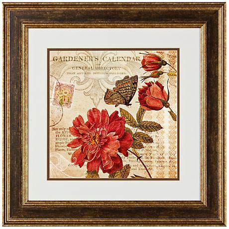 "Botanical Practice I 20 1/2"" Square Framed Wall Art Print"
