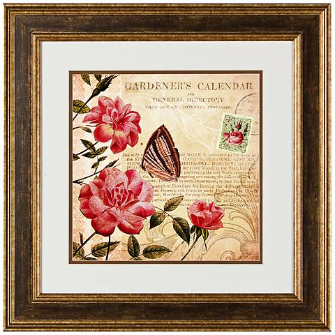 "Botanical Practice II 20 1/2"" Square Framed Wall Art"