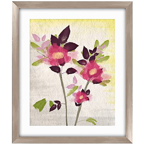 """Watercolor Rose I 26 1/2"""" High Framed Abstract Wall Art"""