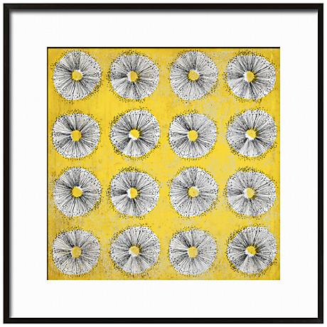 "Dandelion Dance I 17 1/4"" Square Framed Floral Wall Art"