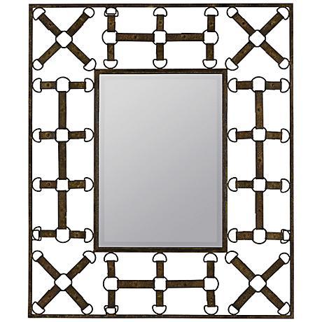 "Windfall 37 1/2"" High Rectangular Wall Mirror"