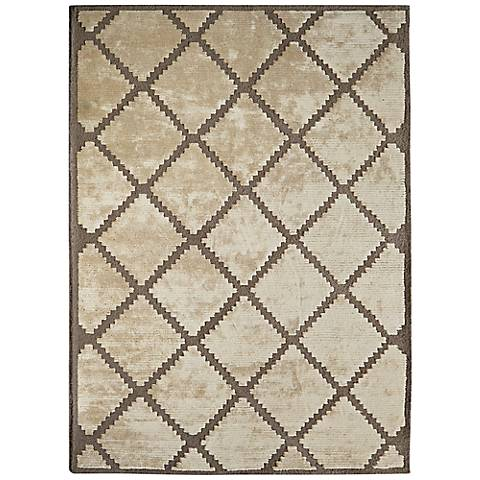 Maison Taos 44181 Cream and Tan Wool Area Rug