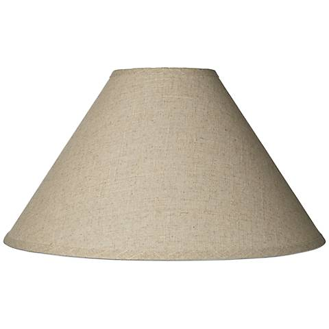 Fine Burlap Empire Shade 6x19x12 (Spider)