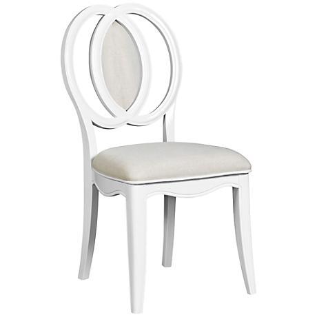 Gabrielle Snow White Cushioned Desk Chair