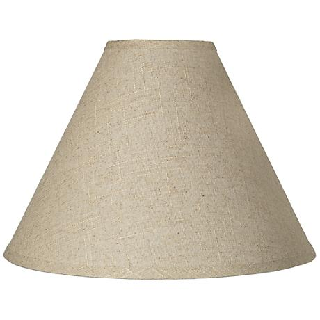 Fine Burlap Empire Shade 5x15x11.5 (Spider)