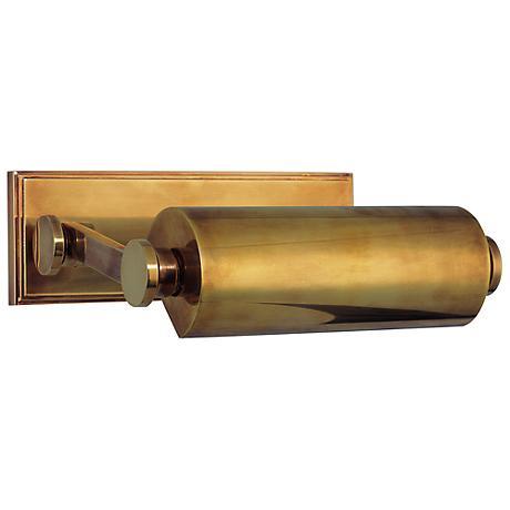 "Hudson Valley Merrick 10 1/2"" Wide Aged Brass Picture Light"