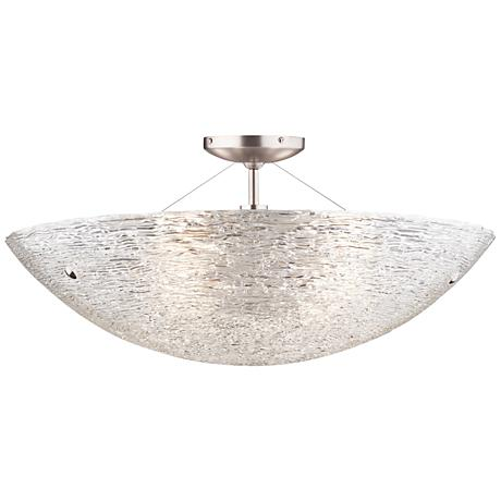 "Tech Lighting Trace 23 1/2"" Wide Pipe Glass Ceiling Light"