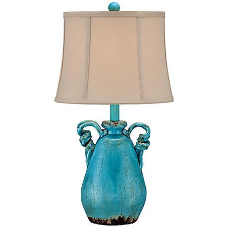 Sofia Turquoise Blue Ceramic Table Lamp