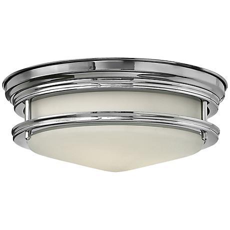 "Hinkley Hadley 12"" Wide Chrome Ceiling Light"